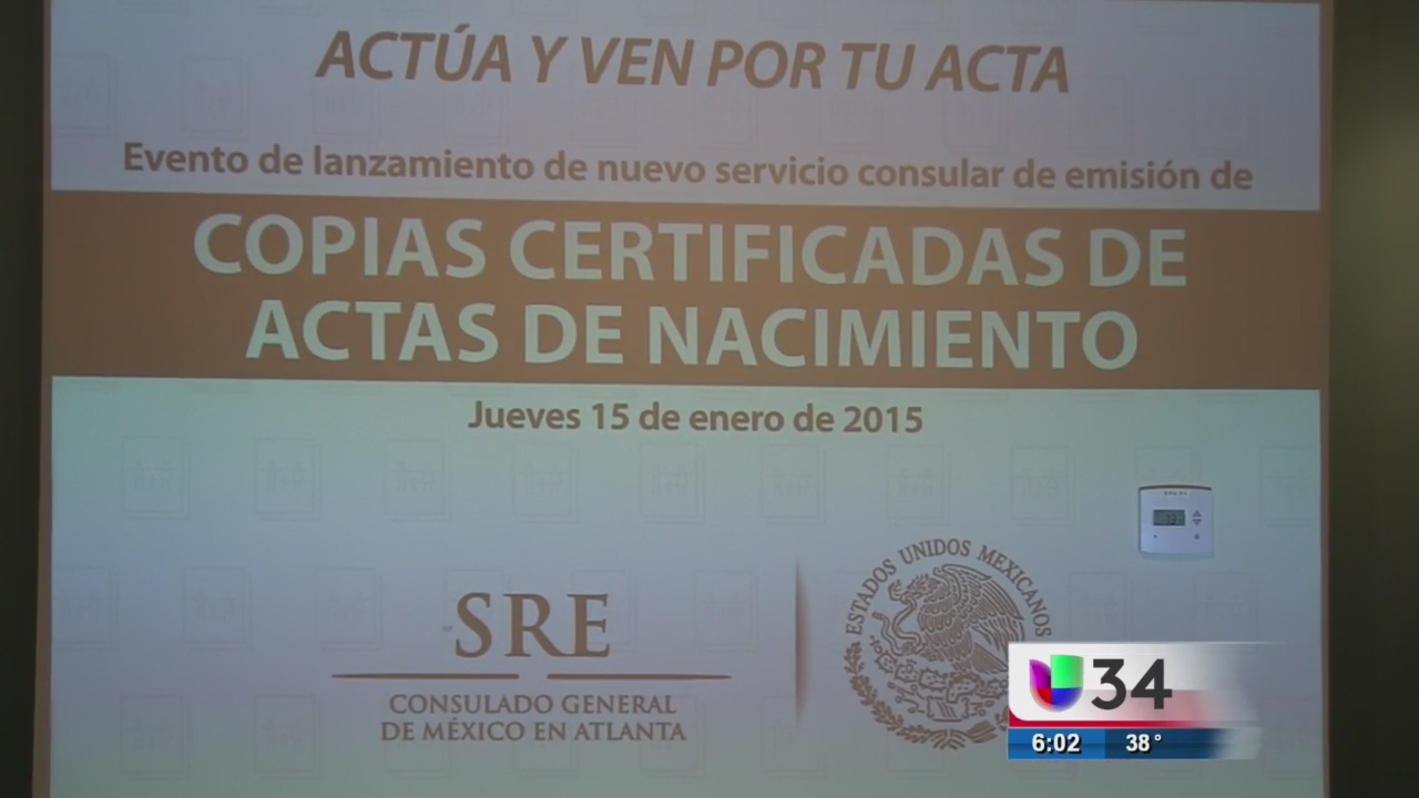 Consulado mexicano en Atlanta emitirá actas de nacimiento - Univision