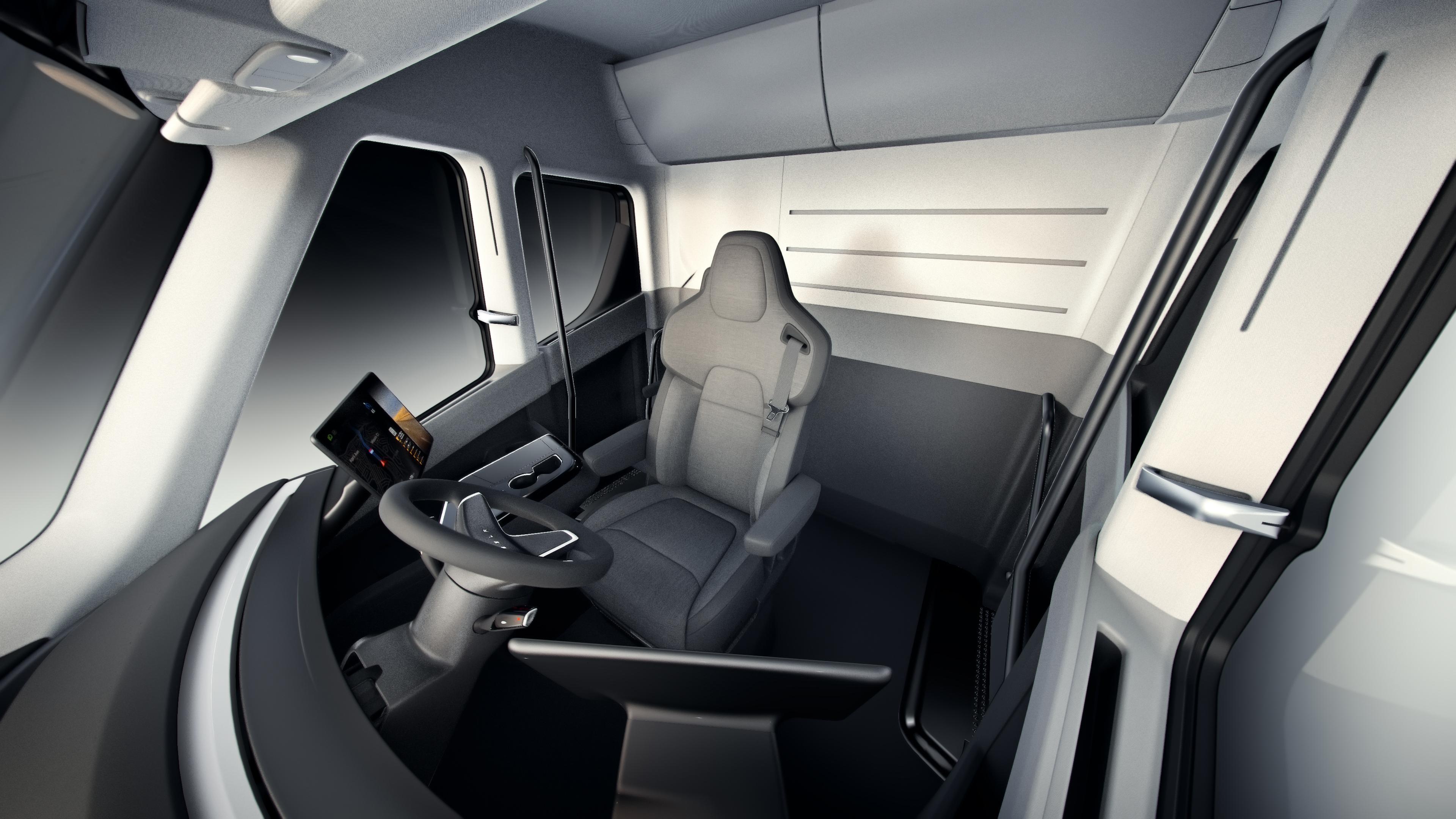 Resultado de imagen de Un primer vistazo al interior del camión eléctrico Tesla Semi