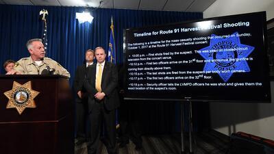 El sheriff de Las Vegas, Joseph Lombardo, revela la línea de tiempo de l...