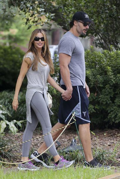 Pero antes de almorzar, la pareja decidió hacer un poco de ejercicio.
