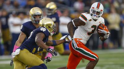 Miami Hurricanes-Notre Dame, una rivalidad que lleva ya 30 años