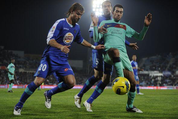 Valera anotó el gol del triunfo donde Getafe le pegó a los 'cules'.