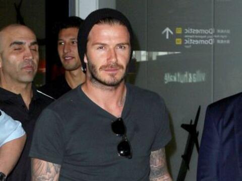 El astro inglés David Beckham aprovechó su estadía...