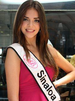 Gabriela Quintero Martínez de 18 años es Nuestra Belleza Sinaloa.