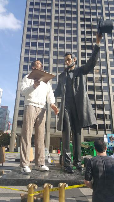 Estatua de Abraham Lincoln en Chicago