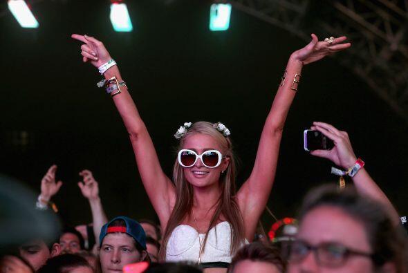 Durante los primeros cuatro días del evento, disfrutó muchos conciertos....