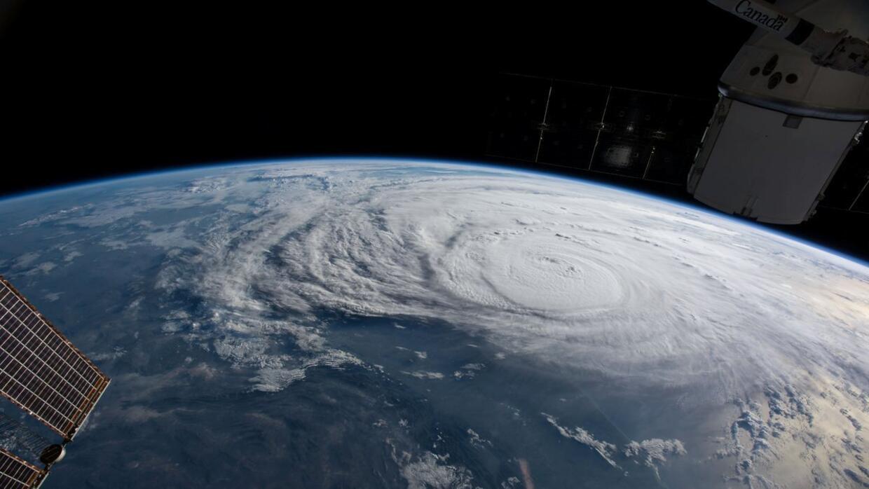 Harvey desde la Estación Espacial Internacional