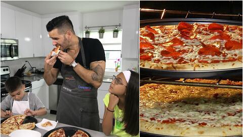 El chef y sus mini ayudantes: Aprendimos a preparar pizza como si estuvi...