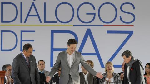 Imagen de archivo donde el ministro de Relaciones Exteriores de Ecuador,...