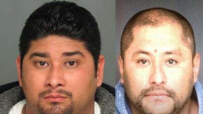 Arturo Velásquez a la izquierda y Héctor Milla a la derecha se encuentra...