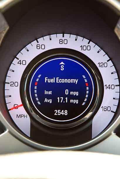 Nuestro promedio de consumo de combustible fue 17.1 millas por galón.