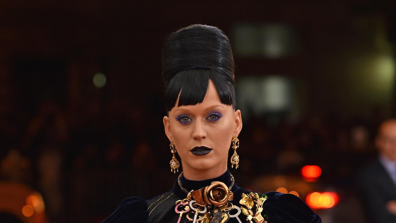 Katy Perry en la alfombra roja del Met Gala.