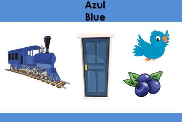 El color azul. ¿Qué otras cosas son azules?