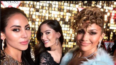 Juntas y de fiesta Jennifer López y Natalia, la novia de Maluma