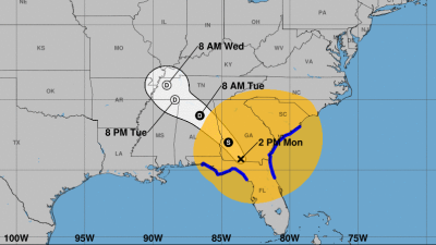Irma bajó a huracán de categoría 1 con vientos máximos sostenidos de 85...