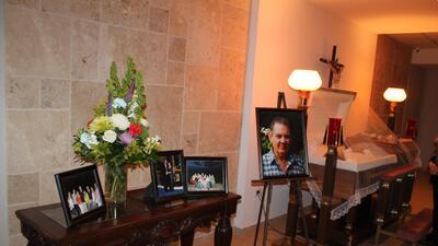 Funeral de Tino García, padre de Lily García
