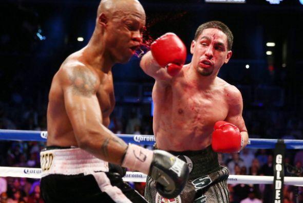La derecha de García fue la mejor arma que tuvo durante toda la pelea.