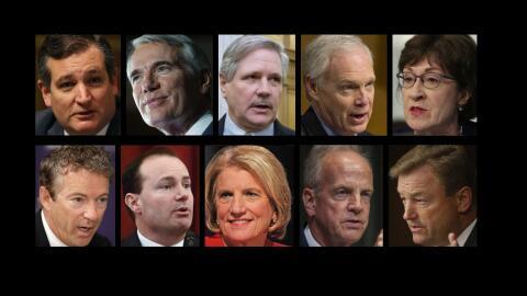 De izquierda a derecha en la fila superior: Ted Cruz, Rob Portman, John...