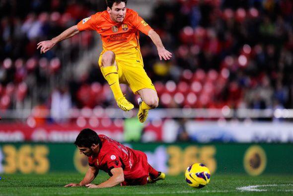 Y tenía que aparecer el líder moral y futbolístico de los 'culés', Messi.