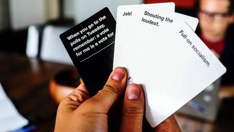 El juego de cartas de lo políticamente incorrecto.