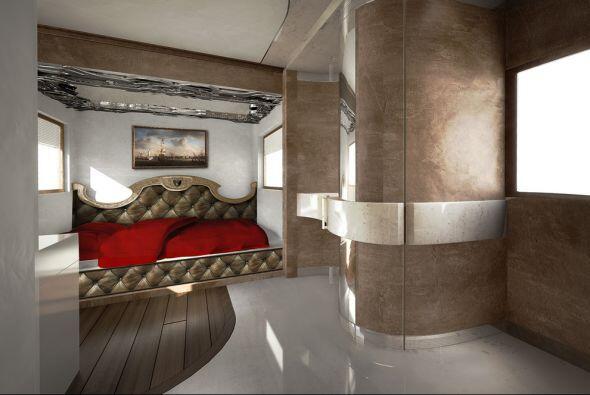 Posee un dormitorio principal con estilo minimalista y algunos detalles...