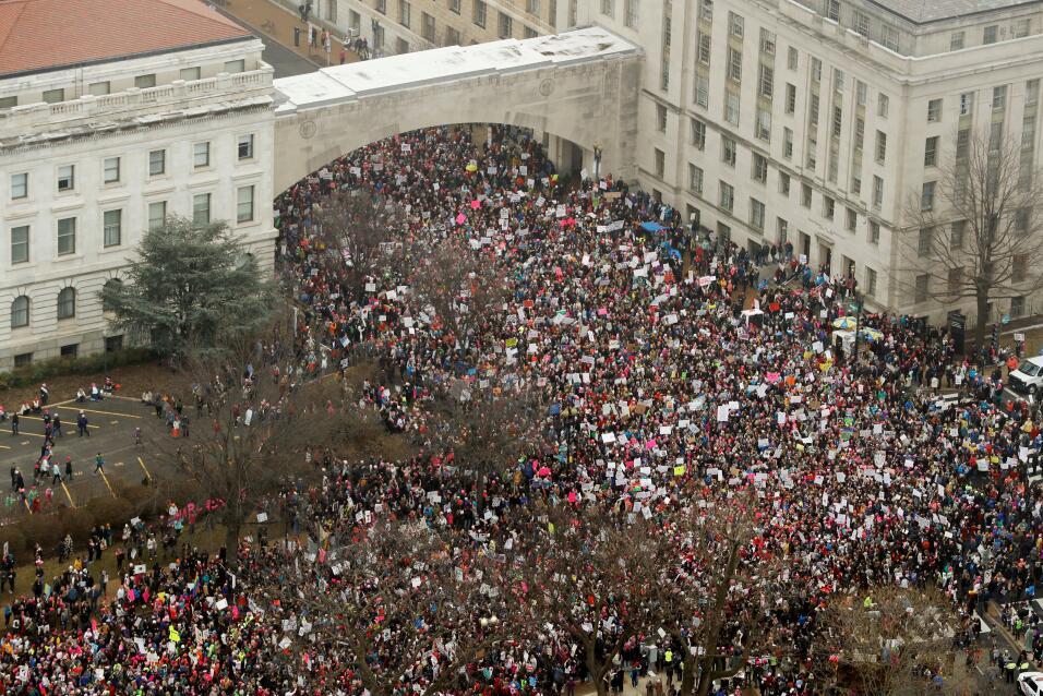 Siguen llegando más manifestantes por a la Marcha en Washington