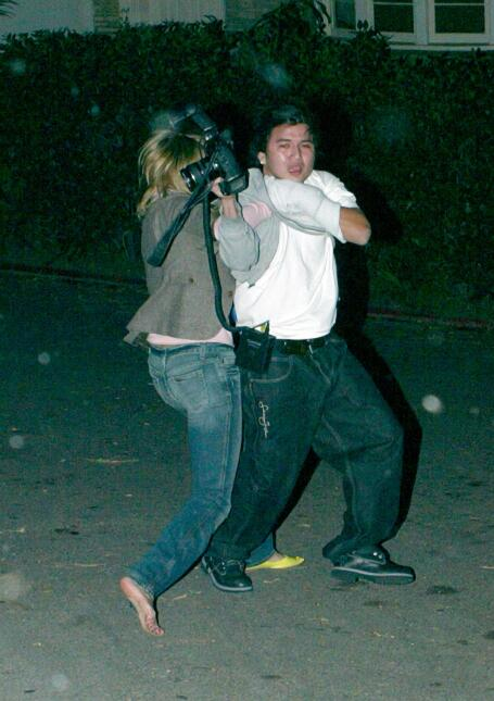 peleas paparazzi