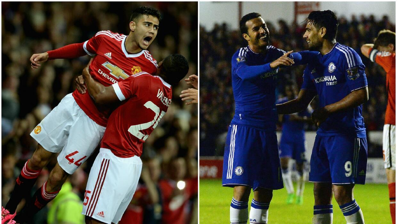 Manchester United y Chelsea ganaron sus juegos en la Capital One.