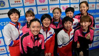 Las Coreas jugaron unidas en el Mundial de tenis de mesa, pero cayeron ante Japón