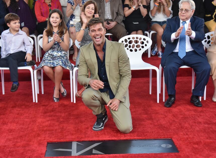Ricky Martin recibe su estrella en el Puerto Rico