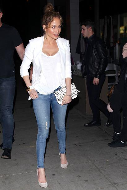 J.Lo, como siempre, iba muy linda.
