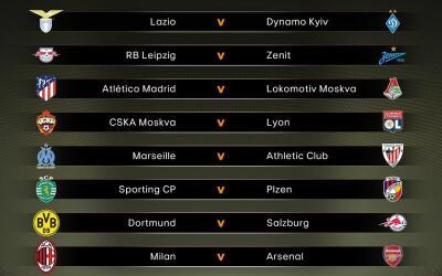 Así quedaron los emparejamientos en la ronda de 16 equipos.