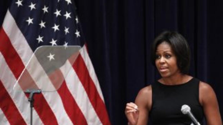 La primera dama encabezó un acto en apoyo a los candidatos demócratas en...