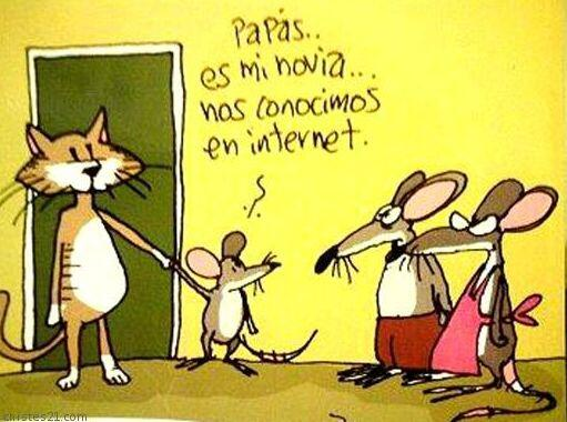 """""""Papás, es mi novia... Nos conocimos en Internet""""."""