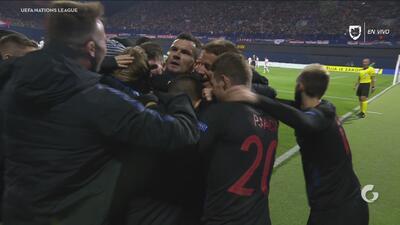 ¡Jedvaj le dio el triunfo a Croacia en tiempo de compensación!