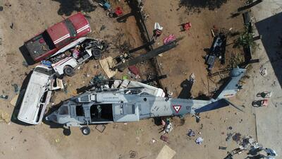 El helicóptero Blackhawk UH-60M con matrícula 1071 de la F...