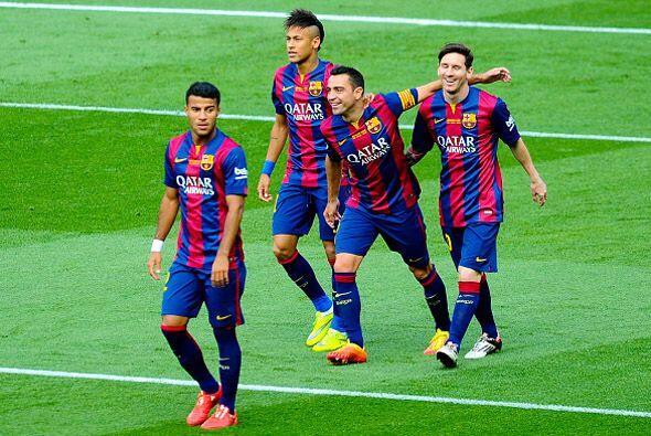 Xavi tuvo oportunidades de marcar, pero al menos celebró con asistencia,...