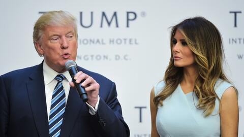 Trump y Melania hace unos días en Washington.