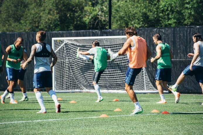Primer entrenamiento de Andrea Pirlo