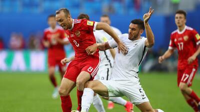 Rusia derrotó a la selección de Nueva Zelanda en el inicio de la Confederaciones