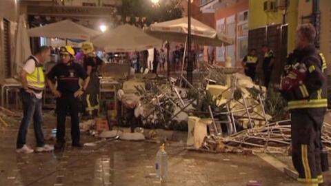 Explosión de gas deja más de 70 heridos en España