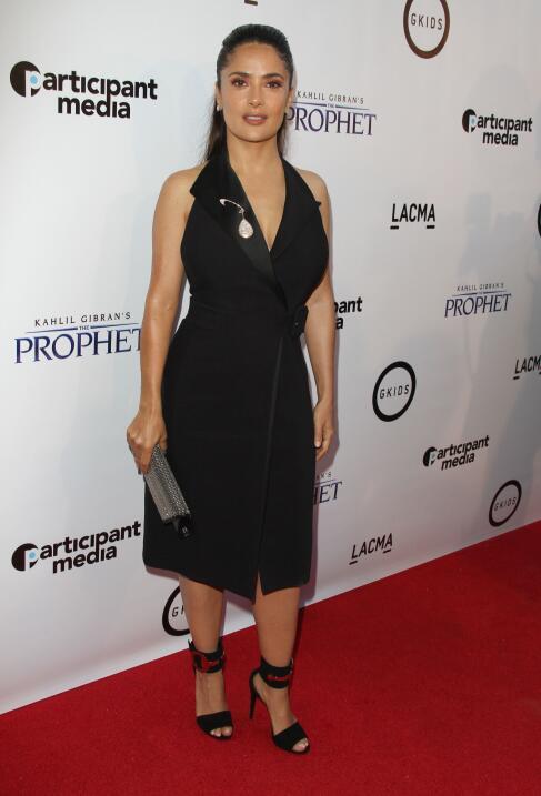 Hayek llevó a su adorada nena al estreno de la cinta 'The Prophet' y sin...