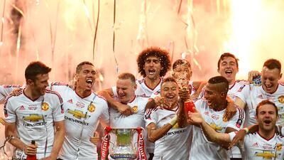 Los rostros de la victoria del Manchester United en la 'FA Cup'