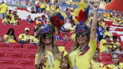 La marea amarilla en Kazán brilló con las fanáticas colombianas