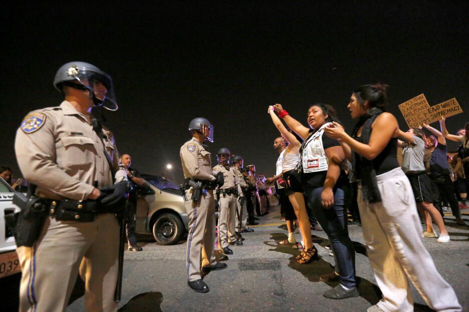 Protestas contra Donald Trump en Los Ángeles