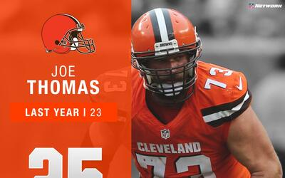 #25: Joe Thomas (OT, Browns) | Top 100 Jugadores 2017