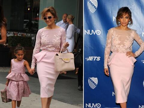 Jennifer Lopez y su pequeña Emme lucieron casi idénticas c...