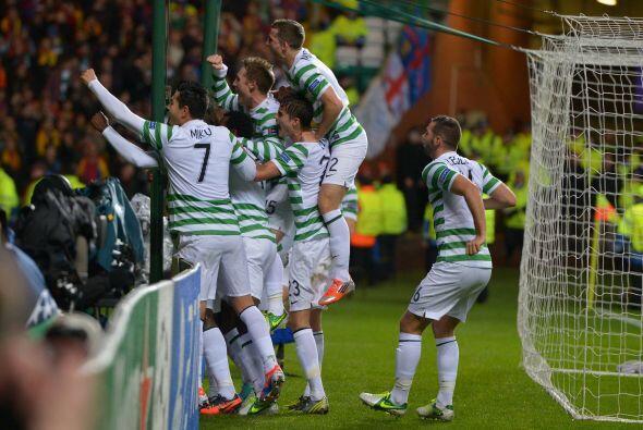 Todos los presentes en la casa del Celtic estallaron en júbilo por la so...