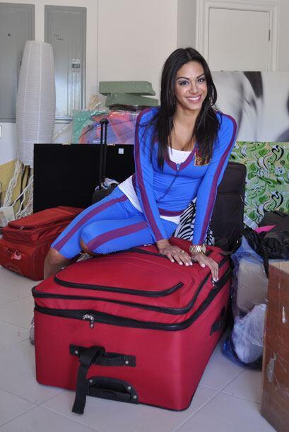 Las maletas con las que las chicas llegaron a la mansión, son tamaño fam...
