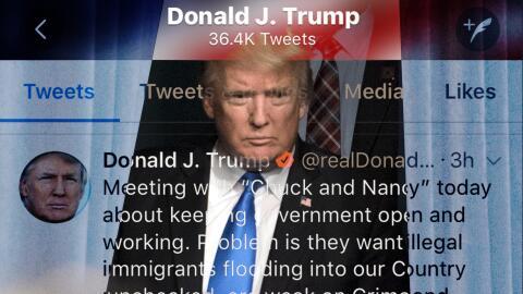 El tuit de Trump que canceló una reunión bipartidista.